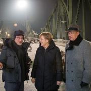 Angela Merkel, Tom Hanks, Steven Spielberg - Dreharbeiten Glienicker Brücke