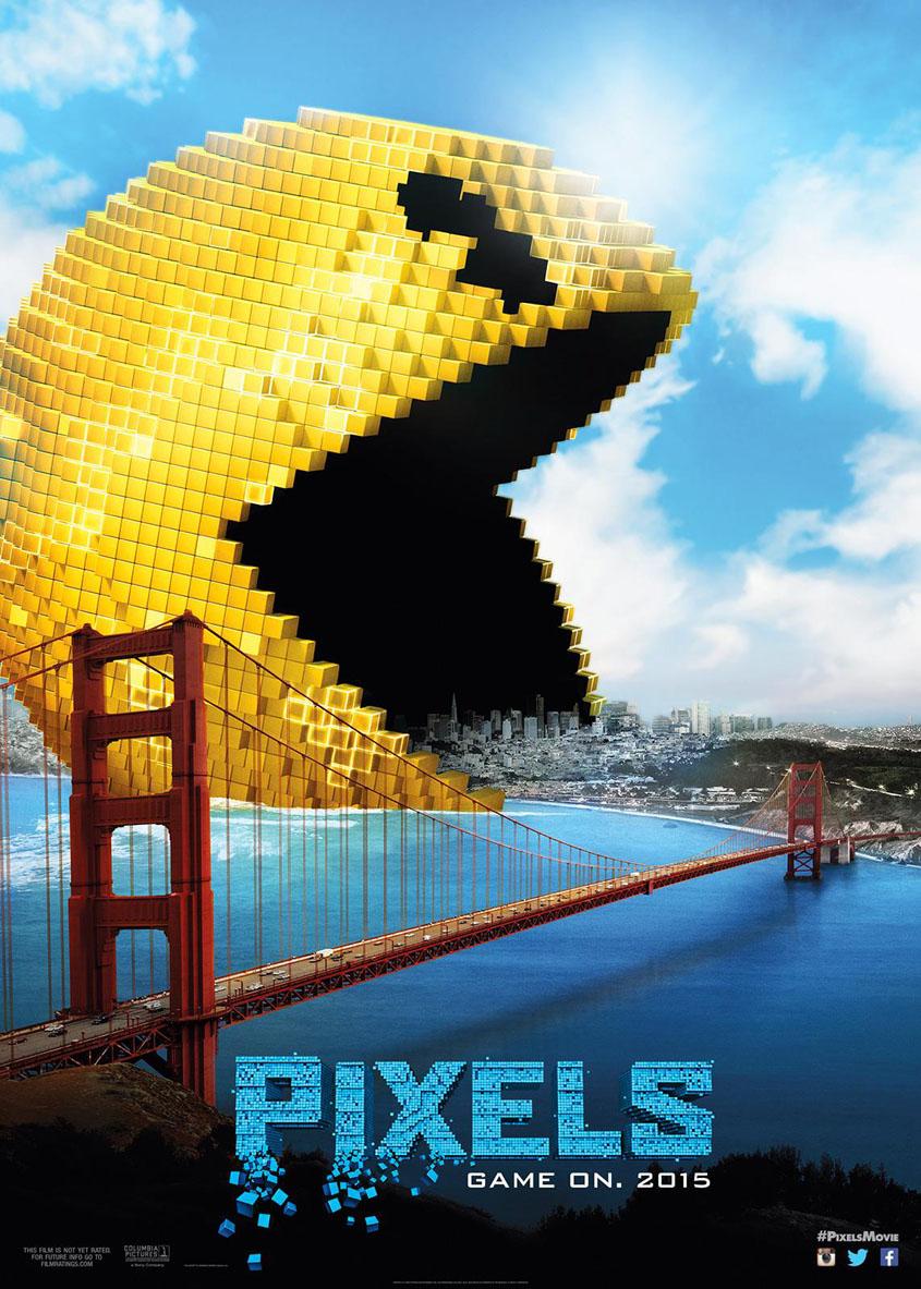 Pixels - Pac Man - San Francisco - Plakat