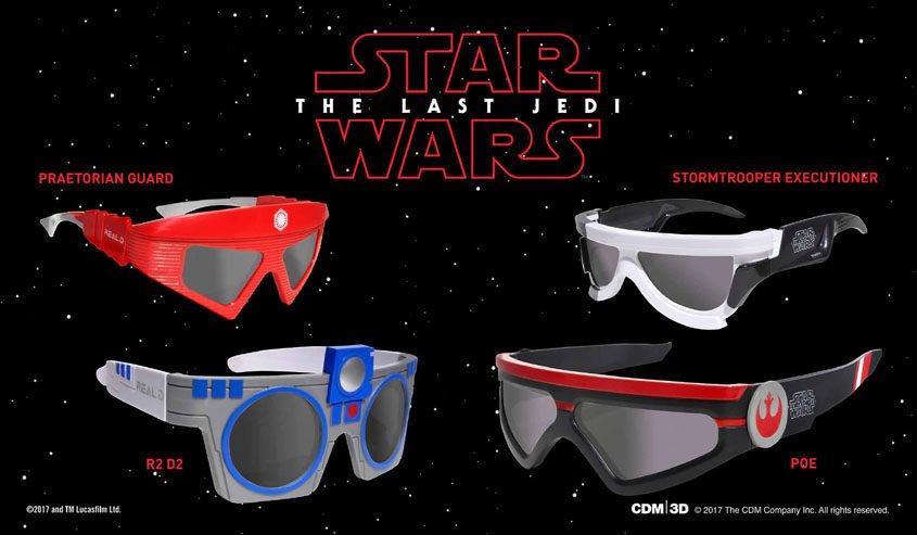 Star Wars- Die letzten Jedi - 3D Brillen - Limitierte Edition