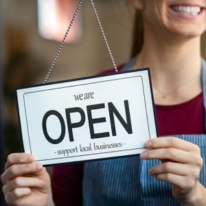 "Shop window ""Open"" sign"