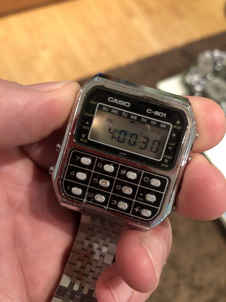 Eine Casion C-801. Der feuchte Traum eines 13jährigen. Der Mobile Computer am Handgelenk.
