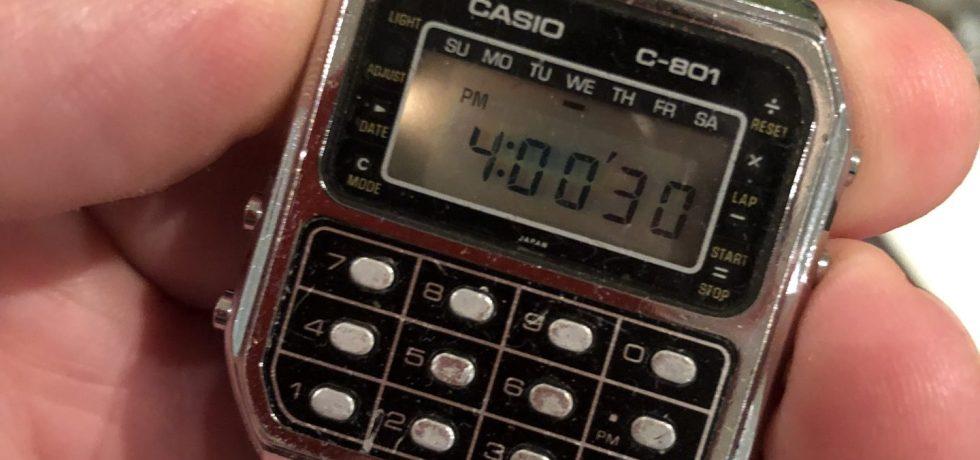 Casio C801. Meine Taschenrechner-Uhr aus den frühen 80ern