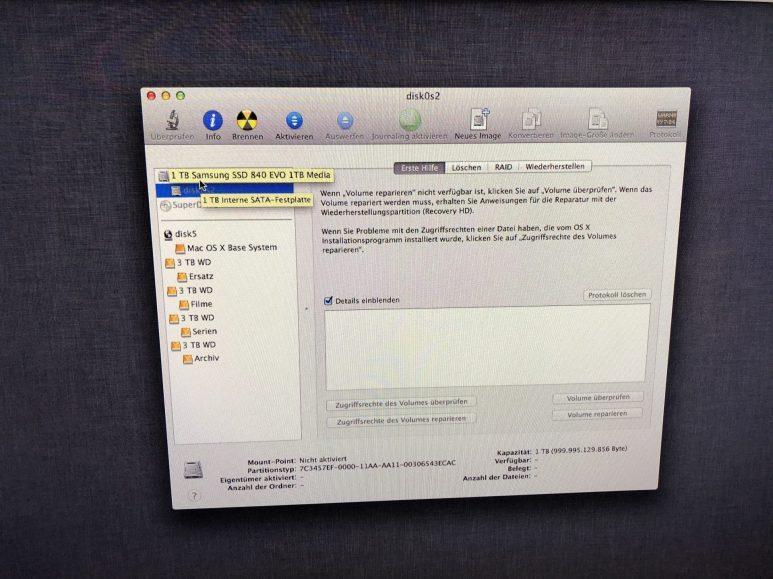 Nach einem Sicherheitsupdate von Apple ist die SSD des Mac Mini leer
