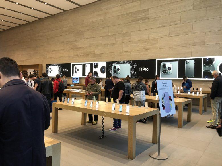 Der Apple Store in Düsseldorf. Kauferlebnis