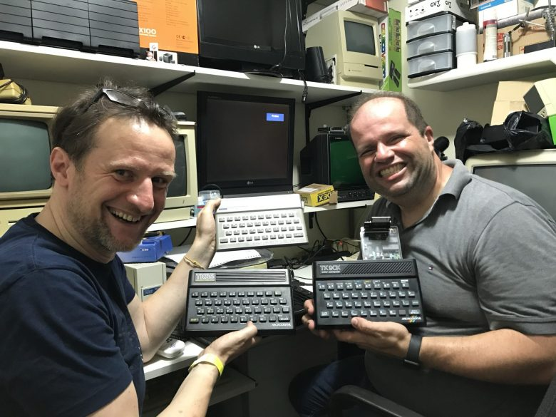 Juan and me with his  Collection of Sinclair clones