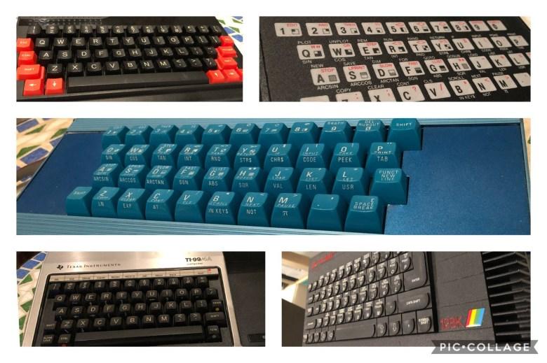 8bit Homecomputertastaturen der frühen 80er-Jahre. Entwicklung der Computertastaturen