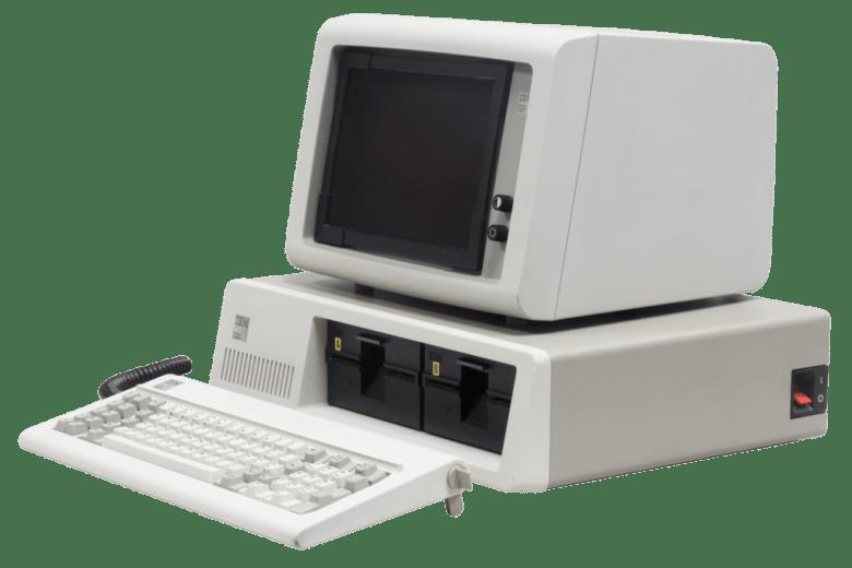 Der IBM PC in seiner klassischen Erscheinung. Der IBM 5150.