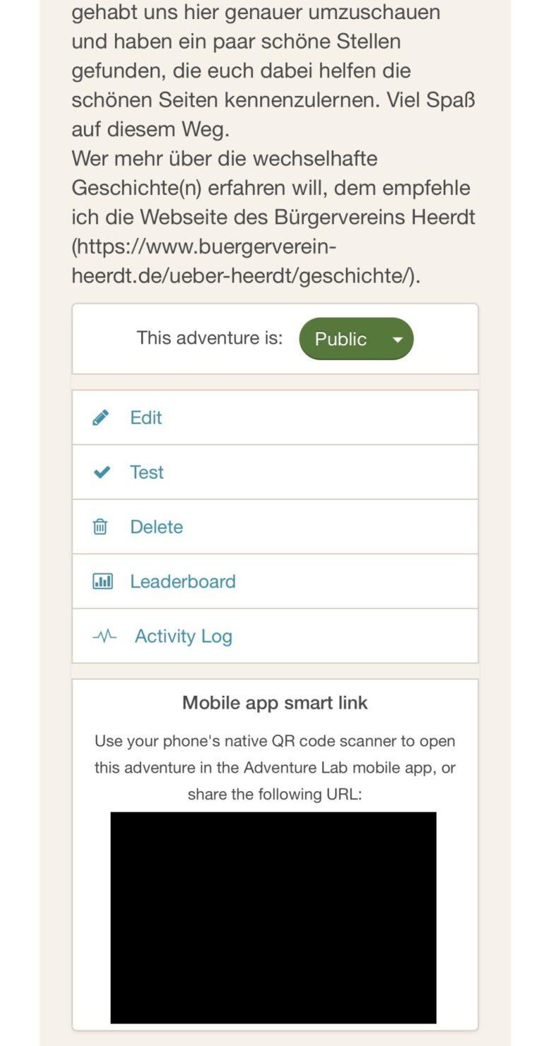 Das Dashboard für den Ersteller des Labcaches. Erfahrungsbericht Labcache