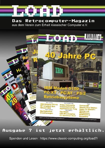 Die LOAD #7 als 2021-er Ausgabe des VzEkC für seine Mitglieder