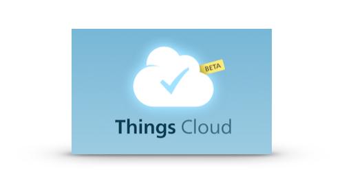 Things und Cloud Sync – endlich offiziell!