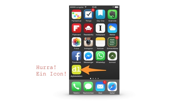 DigitalesLeben hat ein eigenes Touch-Icon bekommen!