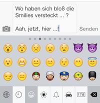 iOS Smilies aktiviert