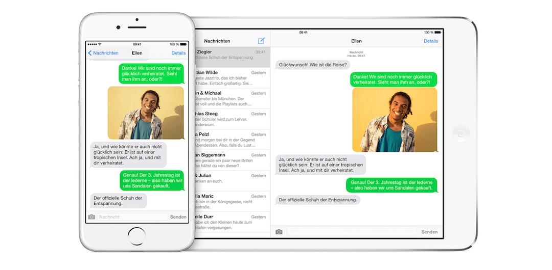 SMS-Weiterleitung zu Mac und iPad einstellen