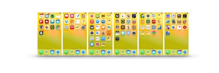 Meine Screens am iPhone