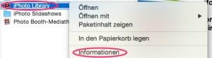Info Speicherplatz