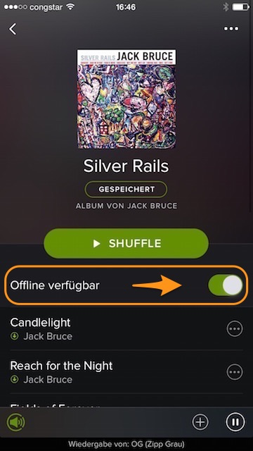 Spotify Offline verfügbar