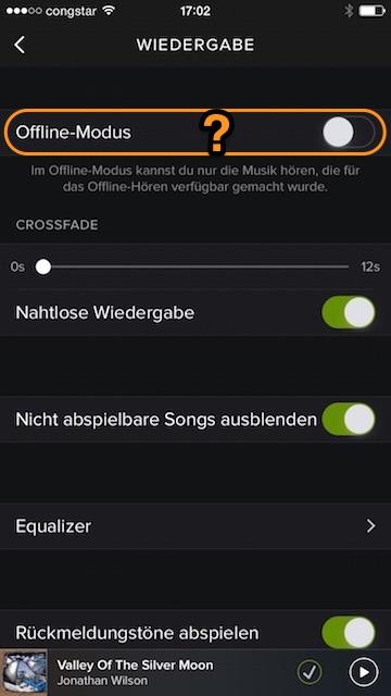 Spotify Offline-Modus