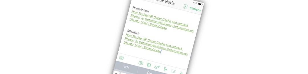 Quick Tipp: Internen Link erstellen in Evernote