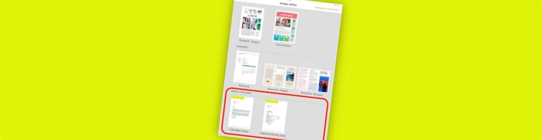 Eigene Vorlagen am iPad