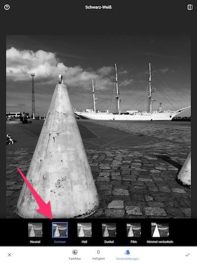 Color Splash Effekt mit Snapseed - Schritt 3