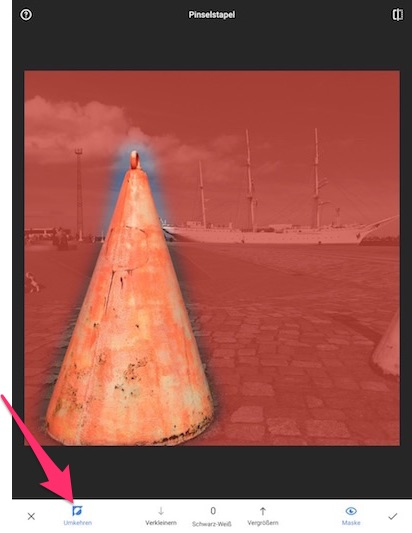 Color Splash Effekt mit Snapseed - Schritt 7