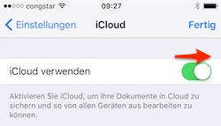GoodNotes: iCloud einschalten