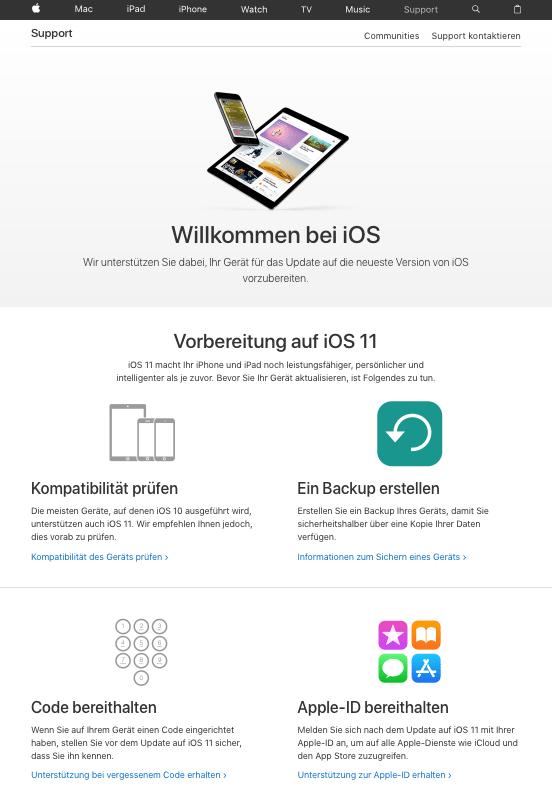 Willkommen zu iOS 11