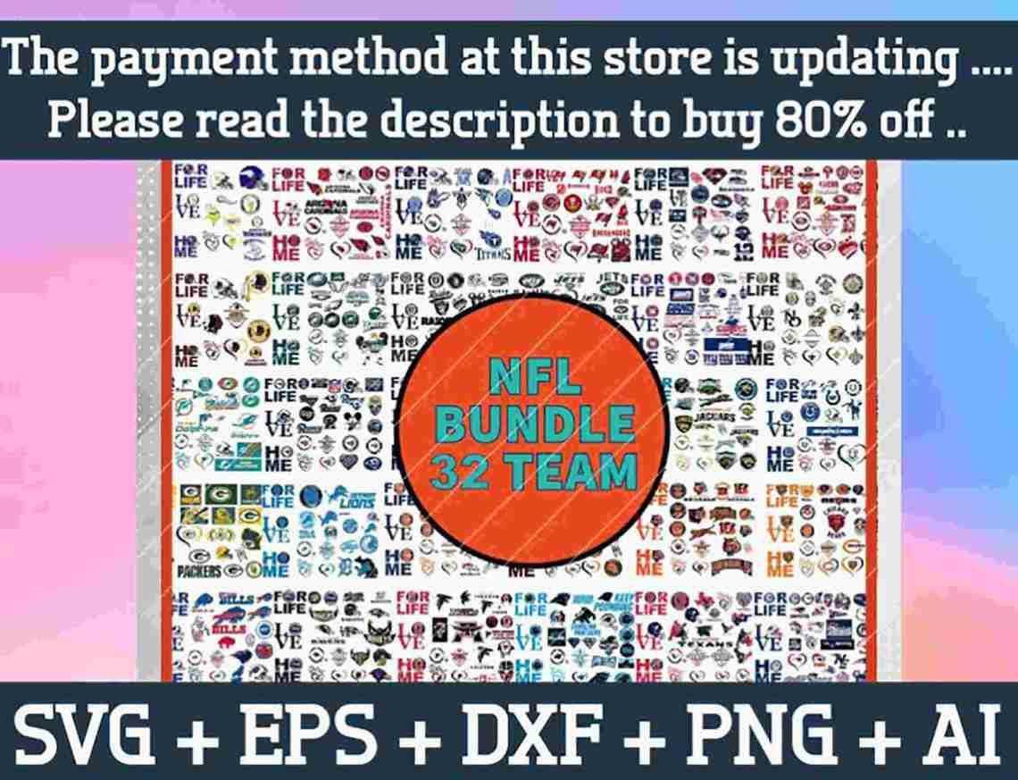 Download All Teams NFL SVG, NFL Bundle SVG, NFL SVG Files, NFL SVG
