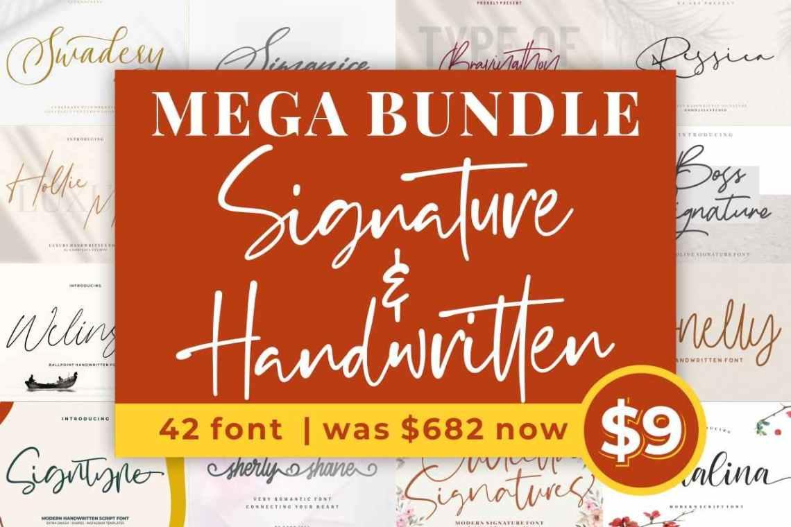 Download Mega Script & Handwritten Fonts Bundle - Digitale SVG