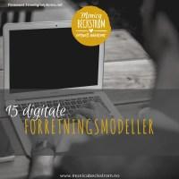 15 digitale forretningsmodeller- en komplett liste?