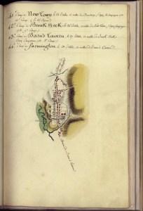 Barnes' Tavern. Rochambeau's Farmington camp, 1782.