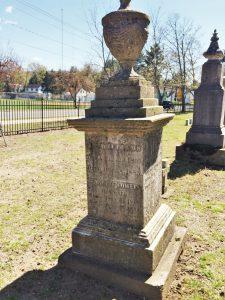 Jennette Cowles Williams and Austin F. Williams' grave in Riverside Cemetery in Farmington