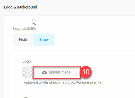 step 10 Branda Upload logo image