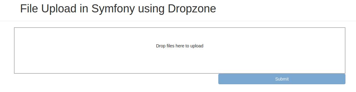 JSfileUploadWithSymfonyAndDropzone