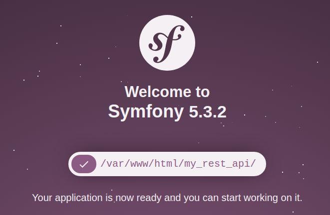Symfony installed