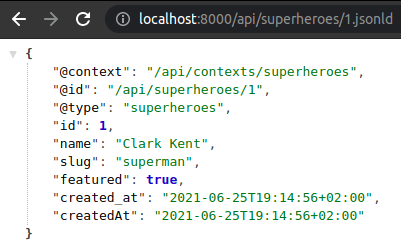 Symfony API platform JSONLD format