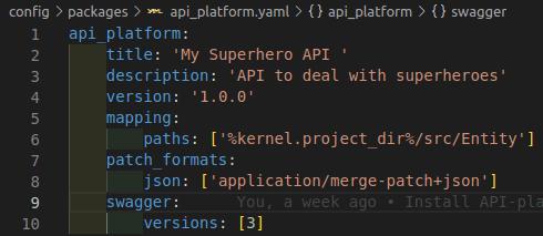 Api platform configuration options