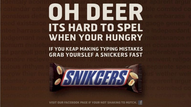 Snickers - Bad at Spelling