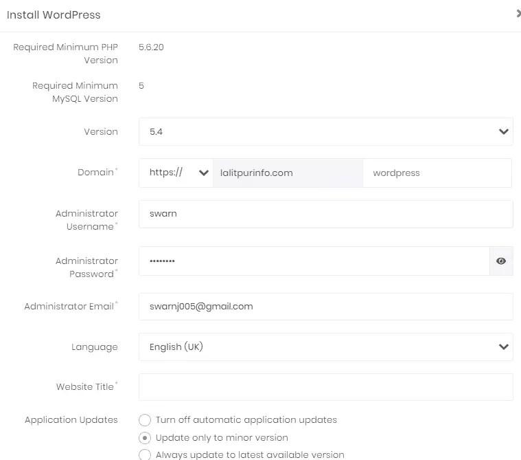 WordPress install कैसे करे