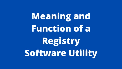 Meaning and Function of a Registry Software Utility