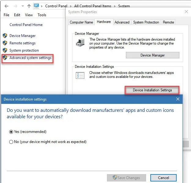Windows 10 Disable Driver Updates