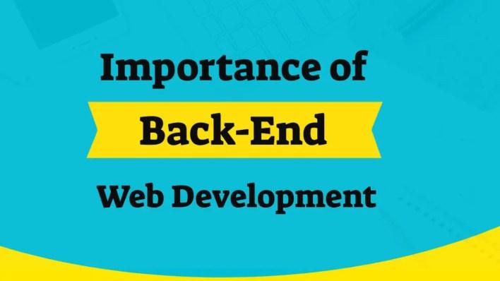 importance of backend web development