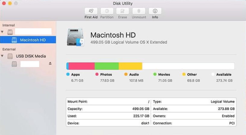macOS Disk Utility