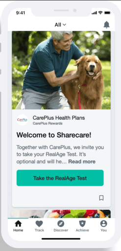 Sharecare app with RealAge test - CarePlus Health Plans