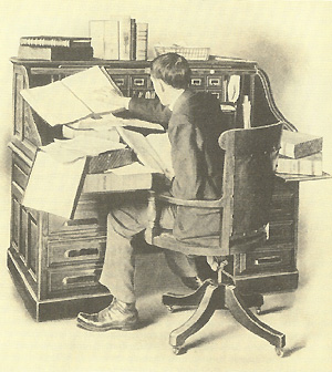 Figure 8 - An illustration of how difficult it was to locate correspondence in press books and letter boxes