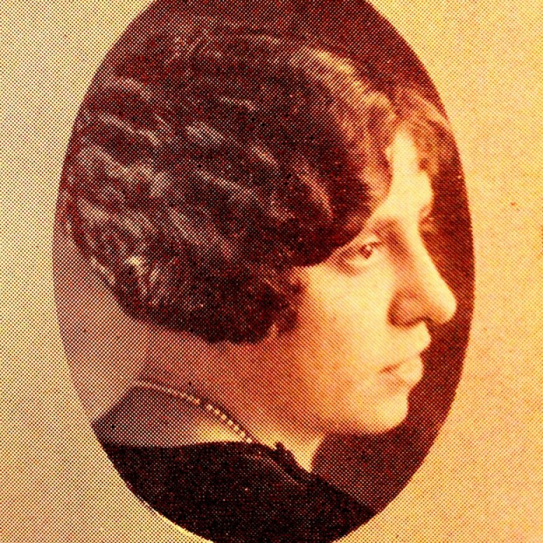 Adelaide's Senior year, yearbook photo from Hope College Milestone 1926.