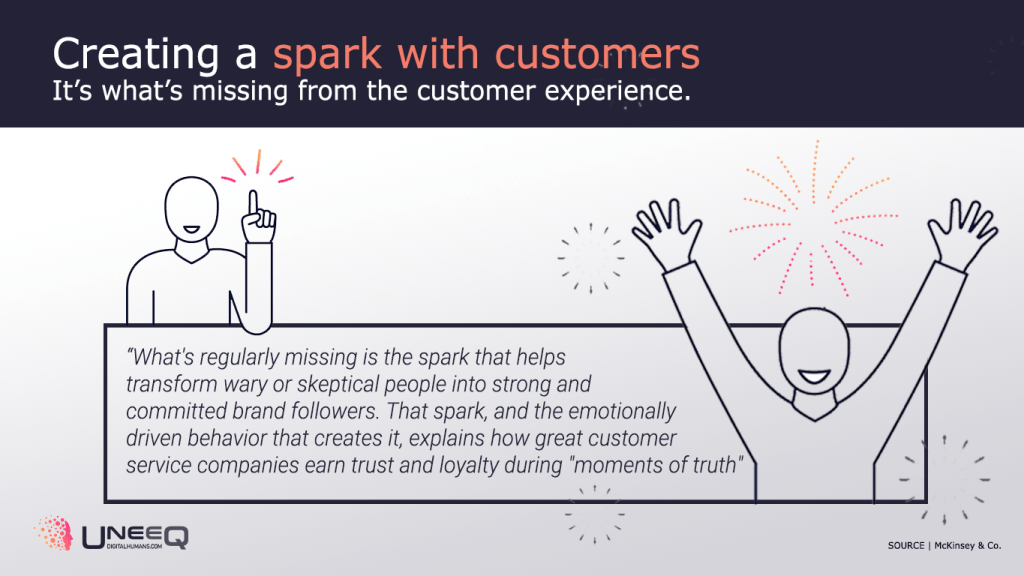 Creating a spark in customer experience and service