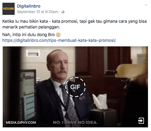 Konten marketing Facebook Digitalinbro