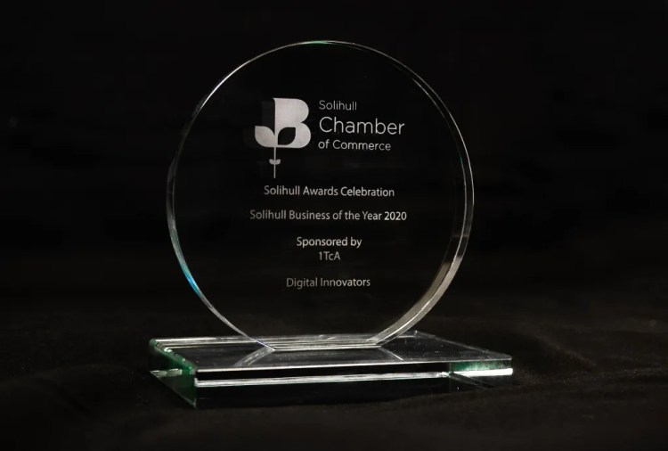 An image displaying the Solihull Business of the Year award.