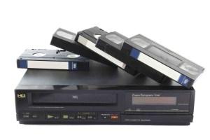 VHS videotape met recorder
